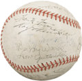 Autographs:Baseballs, 1938 St. Louis Cardinals Team Signed Baseball. Hall of Fame legend retired his Louisville Slugger at the end of the 1937 se...