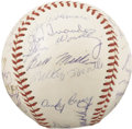 Autographs:Baseballs, 1953 New York Yankees Team Signed Baseball. The Bronx Bombers made it five World Championships in a row this October, cappi...