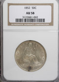 Seated Half Dollars, 1852 50C AU58 NGC....
