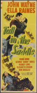 "Movie Posters:Western, Tall in the Saddle (RKO, 1944). Insert (14"" X 36""). Western...."