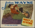 "Movie Posters:Western, West of the Divide (Lone Star, R-Late 1930s). Lobby Card (11"" X 14""). Western...."