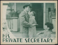 "Movie Posters:Comedy, His Private Secretary (Showmens Pictures, 1933). Lobby Card (11"" X 14""). Comedy...."