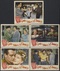 "Movie Posters:Comedy, A Lady Takes a Chance (RKO, 1943). Lobby Cards (5) (11"" X 14""). Comedy...."