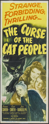 "The Curse of the Cat People (RKO, 1944). Insert (14"" X 36""). Horror"