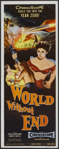 "Movie Posters:Science Fiction, World Without End (Allied Artists, 1956). Insert (14"" X 36""). Science Fiction...."