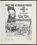 Movie Posters:Historical Drama, The Ten Commandments (Paramount, R-1960). Pressbook (MultiplePages). Historical Drama....