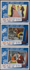 "Movie Posters:Comedy, That's My Boy (Paramount, 1951). Lobby Cards (3) (11"" X 14""). Comedy.... (Total: 3 Items)"