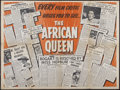 "Movie Posters:Adventure, The African Queen (United Artists, 1952). British Quad (30"" X 40"")Review Style. Adventure...."