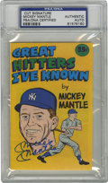 Autographs:Others, Mickey Mantle Signed Comic Cover, PSA Authentic. From the 1976 mini comic book issued by Carvel Ice Cream we offer the cove...