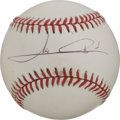 Autographs:Baseballs, Mario Andretti Single Signed Baseball, PSA Mint 9. Motor sportslegend Mario Andretti offers a pristine example of his sign...