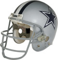 Football Collectibles:Helmets, 2006 Drew Bledsoe Game Worn Helmet. Offered here is a classic silver Riddell Dallas Cowboys helmet worn during the team's 20...