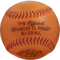 Baseball Collectibles:Others, The Official Charles O. Finley Baseball. Quirky former executivefor the Oakland Athletics Charles O. Finley was known for ...
