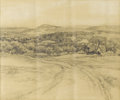 Texas:Early Texas Art - Impressionists, JULIAN ONDERDONK (1882-1922). In the Hills Near Bandera, Texas,February 4, 1917. Pencil. 7 1/4in. x 8 7/8in.. Signed, d...