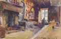 Fine Art - Painting, American:Other , ELIE ANATOLE PAVIS (French 1873-1948). Interior Brenton ACarenton. Watercolor on paper. 11-1/4 x 17 inches (28.6 x43.2...
