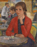 Paintings, FRANCOIS GALL (French 1912-1987). Attente. Oil on canvas. 13-3/4 x 10-3/4 inches (34.9 x 27.3 cm). Signed lower right: ...