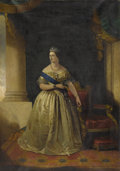 Fine Art - Painting, European:Other , ENGLISH SCHOOL. Portrait Of The Queen Victoria. Oil on canvas. 19 x 27 inches (48.3 x 68.6 cm). Unsigned. ...
