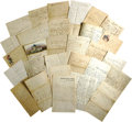 Military & Patriotic:Civil War, Fabulous Collection of Civil War Union Soldier Letters consisting of approximately 30 items, some on colorful patriotic stat... (Total: 30 )