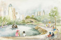 Paintings, DORIS CHILDRESS (dec. 2001). Untitled. Watercolor, 1950s. 15in. x 22 1/2in.. Signed lower left. This is a scene of Chapult...