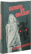 Books:First Editions, Ramsey Campbell: Demons by Daylight. (Sauk City: ArkhamHouse, 1973), first edition, 153 pages, black cloth with gilt le...