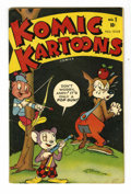 Golden Age (1938-1955):Funny Animal, Komic Kartoons #1 (Timely, 1945) Condition: VG....