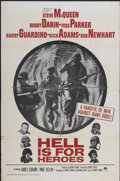 "Movie Posters:War, Hell Is for Heroes (Paramount, 1962). One Sheet (27"" X 41"").War...."