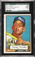 Baseball Cards:Singles (1950-1959), 1952 Topps Mickey Mantle Rookie #311 SGC 30 Good 2. The most important and desirable of all post-war trading cards, the Topp...
