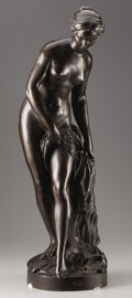 Bronze:European, After ETIENNE MAURICE FALCONET (French, 1716-1791). LaBaigneuse, Late 19th-Early 20th Century. Bronze. Signed onbase: ...