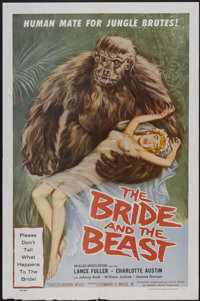 "The Bride and the Beast (Allied Artists, 1958). One Sheet (27"" X 41""). Horror"