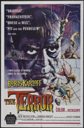 "Movie Posters:Horror, The Terror (American International, 1963). One Sheet (27"" X 41"") Style A. Horror...."