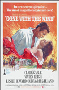 "Movie Posters:Academy Award Winner, Gone with the Wind (MGM, R-1970). One Sheet (27"" X 41"") Tri-Folded.Academy Award Winner...."