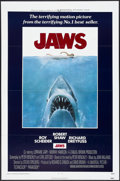"Movie Posters:Horror, Jaws (Universal, 1975). One Sheet (27"" X 41"") Tri-Folded.Horror...."
