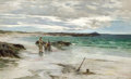 Paintings, WILLIAM HENRY BARTLETT (British, 1858-1932). Digging for Clams, 1881. Oil on canvas. 30 x 50-1/8 inches (76.2 x 127.3 cm...