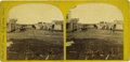 Photography:Stereo Cards, Very Early Stereoview of Street Scene in Sioux City, Iowa ca 1860s - ...