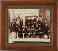 "Western Expansion:Indian Artifacts, Mammoth Plate Photograph of ""Red Men Band"" Deadwood, South Dakota1890s. ..."