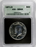 Kennedy Half Dollars: , 1971-D 50C MS66 ICG. NGC Census: (191/74). PCGS Population(680/183). Mintage: 302,097,408. Numismedia Wsl. Price for NGC/P...