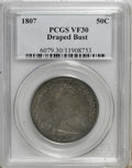 Early Half Dollars: , 1807 50C Draped Bust VF30 PCGS. PCGS Population (70/469). NGCCensus: (59/479). Mintage: 301,076. Numismedia Wsl. Price for...