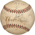 Autographs:Baseballs, 1927 Babe Ruth Single Signed Baseball. The year 1927 saw the mightyMurderer's Row New York Yankees win the World Series be...