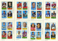 Football Cards:Sets, 1969 Topps 4 in 1 Football Complete Set (66). Presented is a 1969 Topps 4 in 1 Football complete set of 66 cards. Each of t...