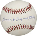 Autographs:Baseballs, Larry Doby Single Signed Baseball. The first black player to playin the American League, Lawrence Eugene Doby used his ful...