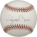 Autographs:Baseballs, Mariano Rivera Single Signed Baseball. One of the most dominatingclosers in modern baseball, Rivera has added a perfect bl...