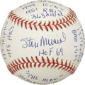 "Autographs:Baseballs, Stan Musial Single Signed ""Stat"" Baseball. Stan Musial, knownsimply as ""The Man"" among Cardinals supporters and contempora..."