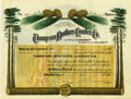 Miscellaneous:Ephemera, Thompson Brothers Lumber Company Stock Certificate 1910....
