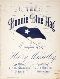 Sheet Music for the Bonnie Blue Flag