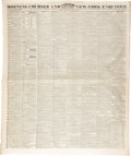 Miscellaneous:Ephemera, News of the Fall of the Alamo, Morning Courier and New-York Enquirer, Monday, April 10, 1836, New York, ...