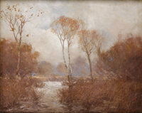 JULIAN ONDERDONK (American, 1882-1922) October Landscape Oil on canvas 24 x 30 inches (61.0 x 76