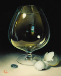 Fine Art - Painting, American:Contemporary   (1950 to present)  , DALHART WINDBERG (American, b. 1933). Brandy Snifter with EggShell and Nickel. Oil on canvas. 10 x 8 inches (25.4 x 20....