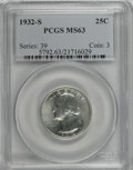 Washington Quarters, 1932-S 25C MS63 PCGS....
