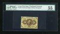 Fractional Currency:First Issue, Fr. 1229 5c First Issue PMG About Uncirculated 55....
