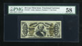 Fractional Currency:Third Issue, Fr. 1337 50c Third Issue Spinner PMG Choice About Unc 58....