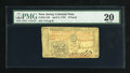 Colonial Notes:New Jersey, New Jersey April 8, 1762 £3 PMG Very Fine 20....